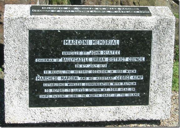 marconi memorial closeup